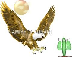 desenho foto aguia dourada sol cacto deserto ecologia