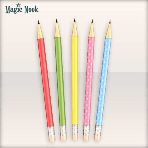 [MAGIC NOOK] Study Hard! /FREEBIE/ - Colourful pencils
