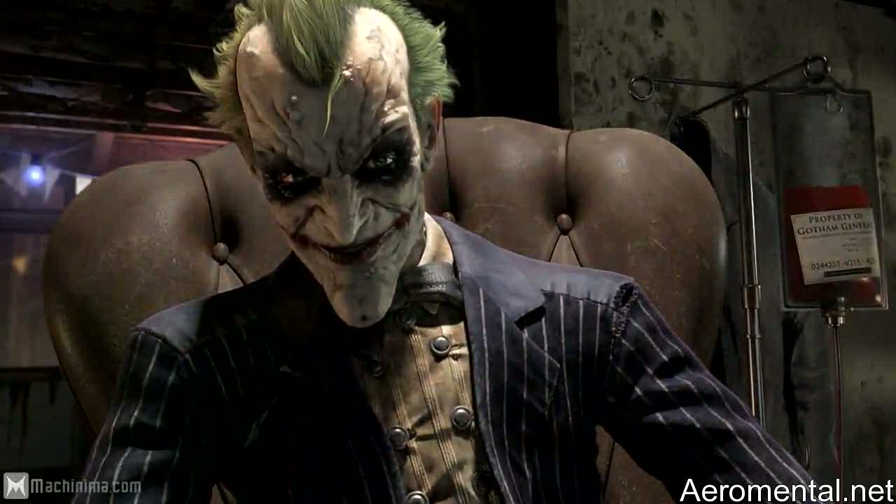 Batman Arkham Asylum 2 Joker face