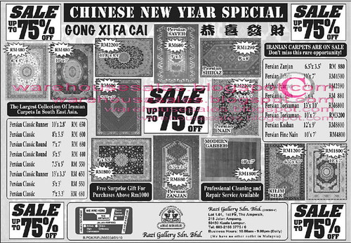 Razi Gallery Chinese New Year Carpet Sale