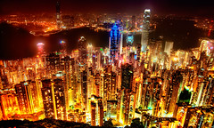 Hong Kong Skyline (Sprengben [why not get a friend]) Tags: ocean china california new york city travel family wedding light party summer vacation urban panorama music hk usa paris berlin london tower art japan skyline architecture clouds skyscraper canon geotagged fun island hongkong tokyo bay harbor nikon asia europe shanghai artistic gorgeous awesome hamburg taiwan style divine explore international sacred stunning metropolis charming thepeak macau foreign fabulous kowloon majestic ifc hdr chine bankofchina engaging travelphotography megacity symphonyoflight photomatix internationalfinancecentre explored hdrtutorial hdrphotos d3s sprengben bestofmywinners