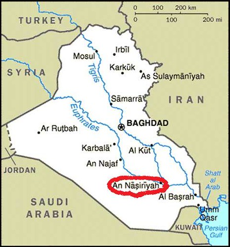 cia iraq map