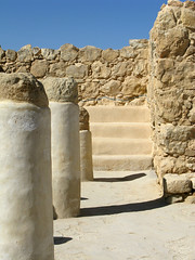Columns among the ruins at Masada by laura padgett, on Flickr