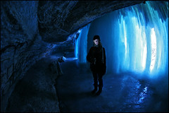 minnehaha falls - minneapolis ice cave (Dan Anderson (dead camera, RIP)) Tags: blue winter portrait cold ice water minnesota wall frozen waterfall minneapolis falls waterfalls cave twincities mn icicles minnehaha icecave minnehahafalls behindthefalls minnehahapark secreteplace