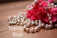 (Danni-Bear ) Tags: bear pink flower love me by canon was bored taken it pearl today danni 450d