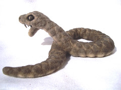 Black Mamba Felted Sculpture 6