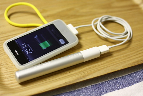 エネループ eneloop stick booster with iPhone