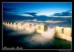 Sunrise - Merewether Baths - 06-02-2010 - 025- Framed (DoctorJ73) Tags: ocean sea sun water swim sunrise canon newcastle eos james baths 7d danny sundance blocks whitewash merewether