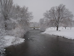 Snow and River