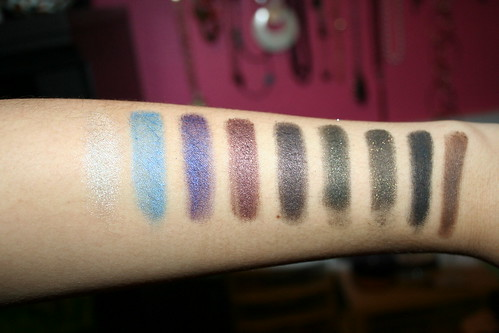 NYX Single Eyeshadow Swatches.