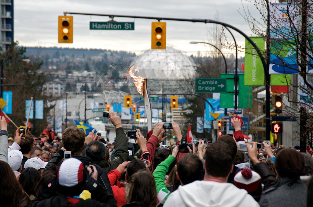 Torch at Georgia and Hamilton