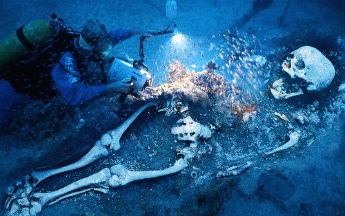real underwater titanic pictures. Underwater Skeleton Real Titanic Pictures