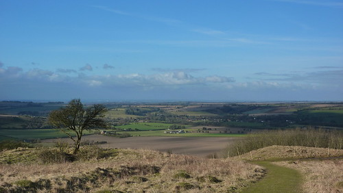 Looking towards the Meon Valley and Exton from Old Winchester Hill