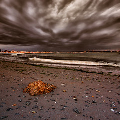 Storm Clouds...... (George Nutulescu) Tags: travel sea storm beach clouds sand waves pyramid shell stormy romania distillery blacksea hdr gpc brp greatphotographers objectiveart soulscapes idream nikond40 flickraward vertorama capturethefinest redmatrix yourwonderland oracope sailsevenseas coppercloudsilvernsun imageourtime marculescueugendreamsoflightportal