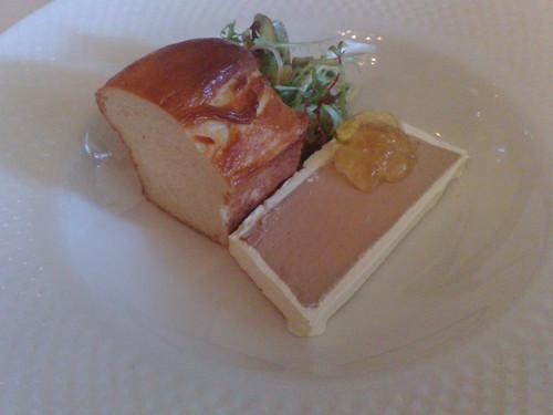 Foie gras parfait with botrytis sémillon jelly & brioche