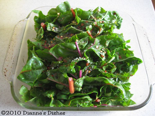 Spicy Baked Chard: Ready to Bake