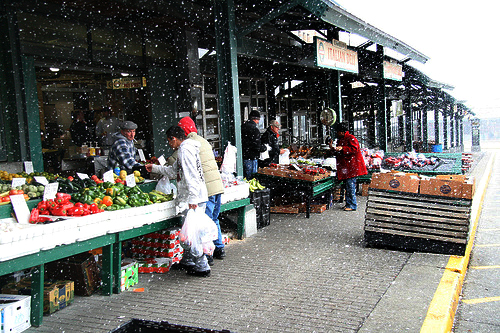 Snow at the Market