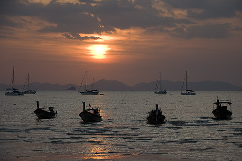 Railay West at sunset