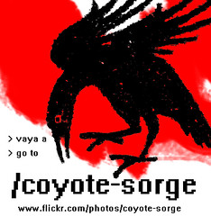 NUEVO/NEW FLICKR (Coyote Sorge) Tags: