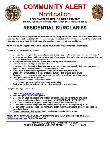 Crime Alert Burglary