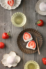 Ichigo Daifuku (Strawberry Mochi) (bananagranola (busy)) Tags: food cooking japan dessert japanese spring strawberry homemade sweets japanesefood mochi ricecake ichigo wagashi daifuku