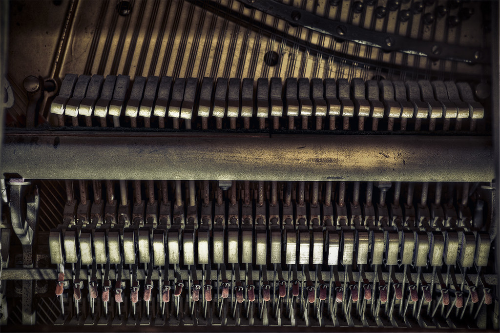 52/365: Piano Innards