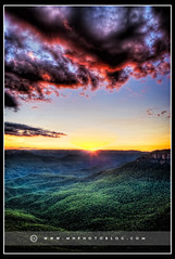 The Devil's clouds (M Norris) Tags: sunset sky mountains silhouette clouds landscape bluemountains hdr highdynamicrange photomatix
