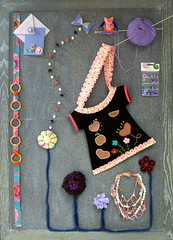 mural invierno 2008 (crea manualidades) Tags: lana patchwork manualidades labores creativo crea fieltro merceria
