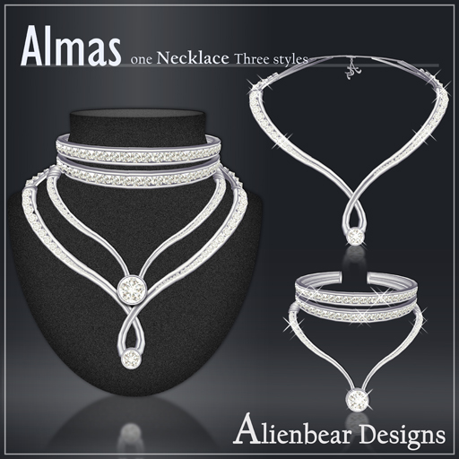 Almas necklace white