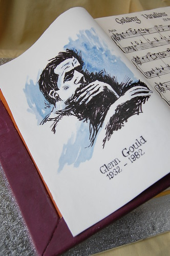 Glenn Gould Birthday Cake - portrait