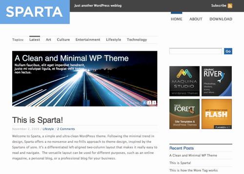 Sparta – ThemeForest Premium WordPress Theme