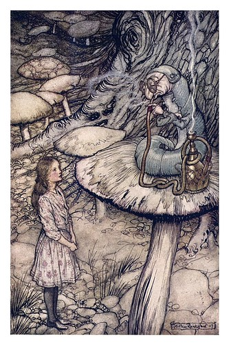 004-Advice from a caterpillar-Alice's adventures in Wonderland-1907- Arthur Rackham