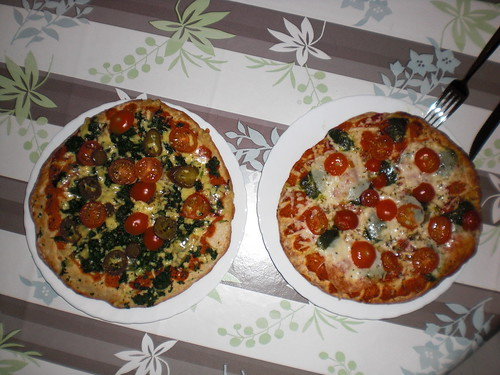 links Spinaci, rechts Mozzarella.