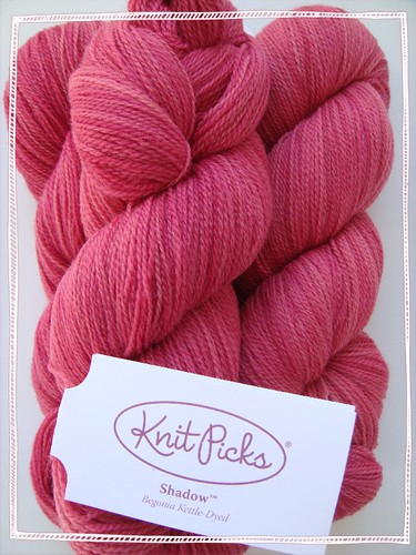 beautiful begonia pink lace weight kettle-dyed 'shadow' yarn