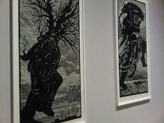 William Kentridge - Walking Man & Telephone Lady (j_bussmann) Tags: print contemporaryart moma museumofmodernart woodcut williamkentridge