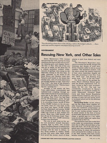07/14/75 Time Magazine - Rescuing New York, And Other Tales (1/2)