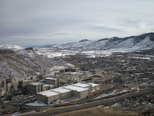 Coors Brewing Factory in Winter