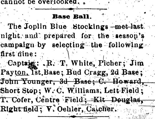 A reference to the Joplin Blue Stockings