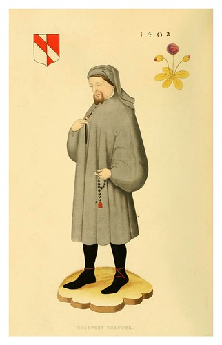 006-Geoffrey Chaucer 1402-Dresses and decorations of the Middle Ages 1843- Henry Shaw