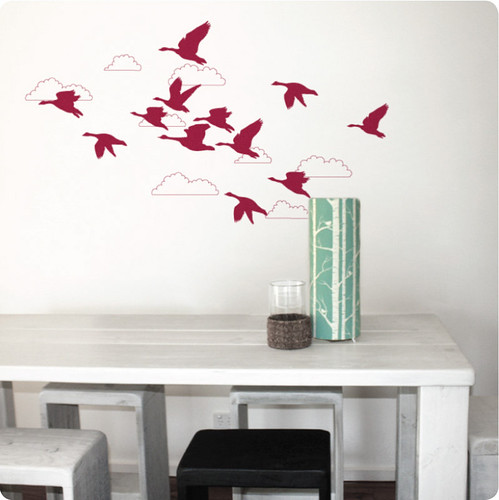 geese wall sticker/decal