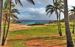 Anakena beach, Easter Island (msdstefan) Tags: pictures trip travel vacation sky panorama holiday beach strand easter landscape island polynesia sand pacific pics urlaub nikond50 best insel landschaft moai rtw isla palme hdr nicest nui rapa anakena pazifik osterinsel polynesien landschaftsbild flickrdiamond concordians goldstaraward flickrestrellas 100commentgroup platinumbestshot yourwonderland mygearandmepremium mygearandmebronze