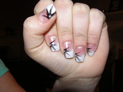 nail extensions with nail art