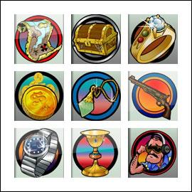 free Metal Detector slot game symbols