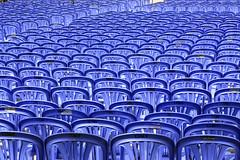 Chairs (-clicking-) Tags: chairs blue seat sunlight outdoor saariysqualitypictures 100commentgroup creattività bestcapturesaoi elitegalleryaoi monochrome pattern