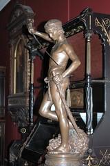 Antonin Mercié - David, bronze statuette, left view, Victoria and Albert Museum, London - by ketrin1407