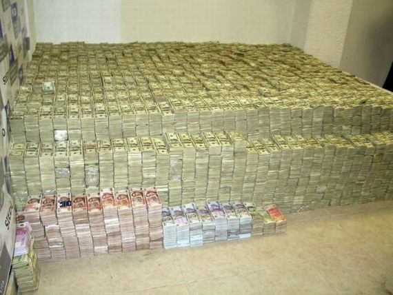 Money seized in what the DEA called the 'largest drug-cash seizure in history'