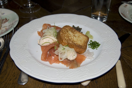 bistro vue_house smoked salmon with toasted brioche