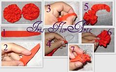 Passo a passo da Rosa de tecido (Iris Florarte) Tags: de arte artesanato rosa vermelho da fuxico pap tecido passo tricoline