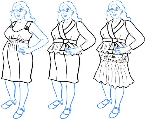 Mini Wardrobe Contest Sketches in Progress 2