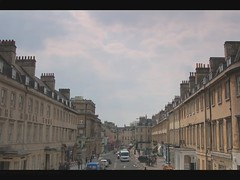 George St Time Lapse (Pete Rocks) Tags: street people motion cars birds clouds buildings d50 lights george movement bath traffic time action tripod stop filter nd lapse